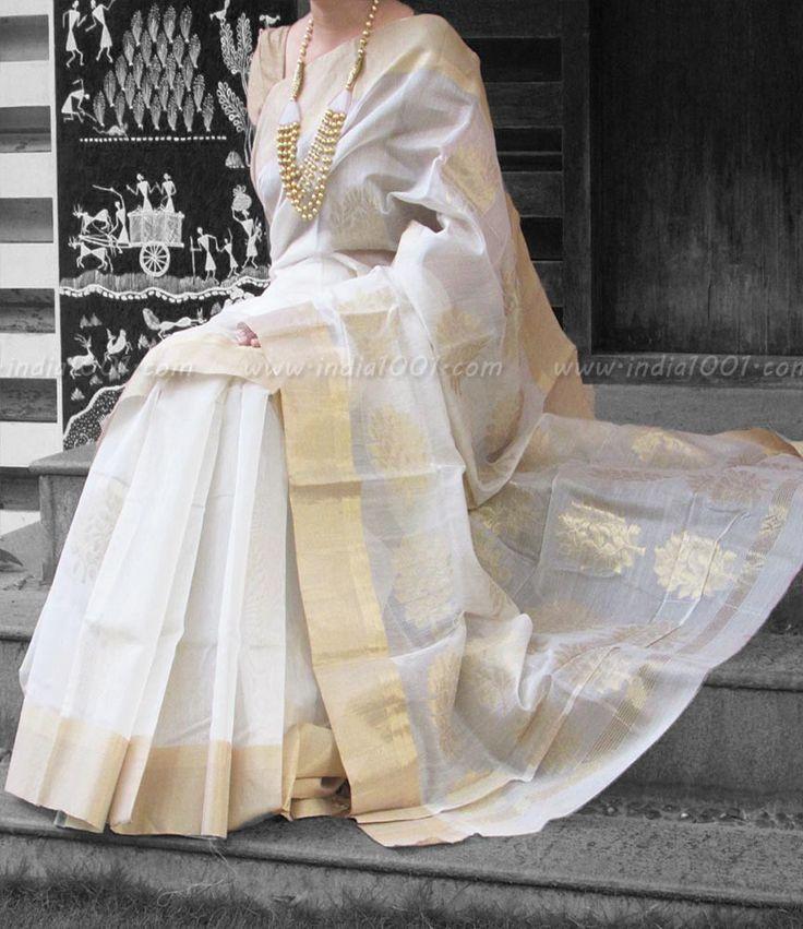 Designer Handcrafted Woven Chanderi Saree | India1001.com