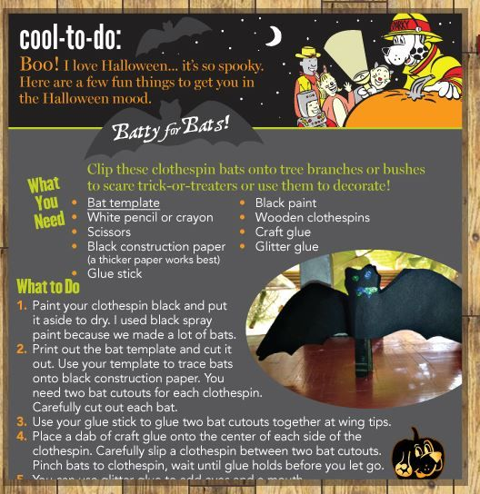 Batty for Bats! Here's a fun activity to get in the #Halloween spirit!