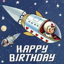Spaceboy Birthday Card
