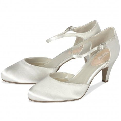 Freesia by Pink for Paradox London Ivory or White Dyeable Vintage Wedding or Occasion Shoes - SALE