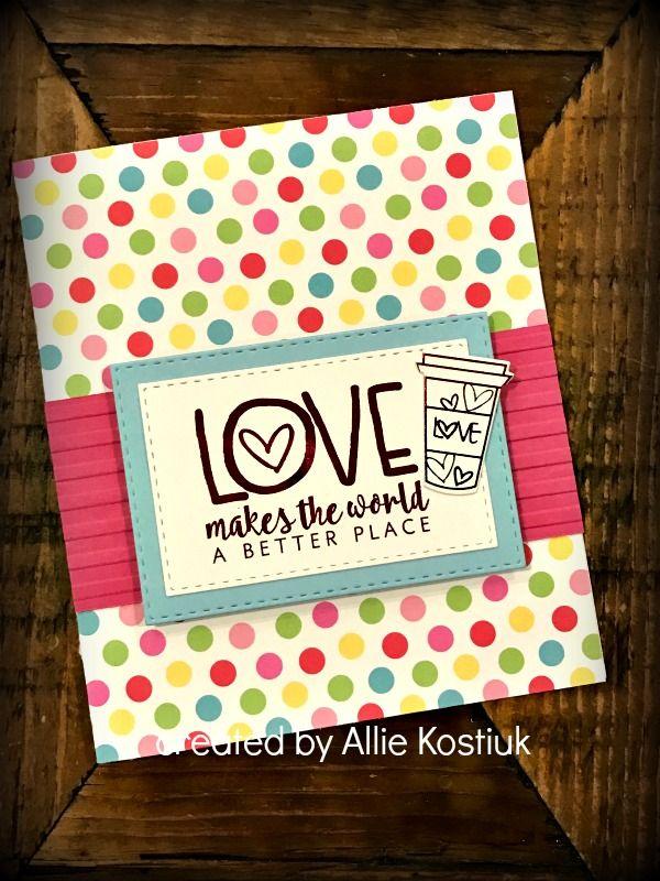 Handmade card by Allie Kostiuk using the Love From Me digital set by Verve. #vervestamps