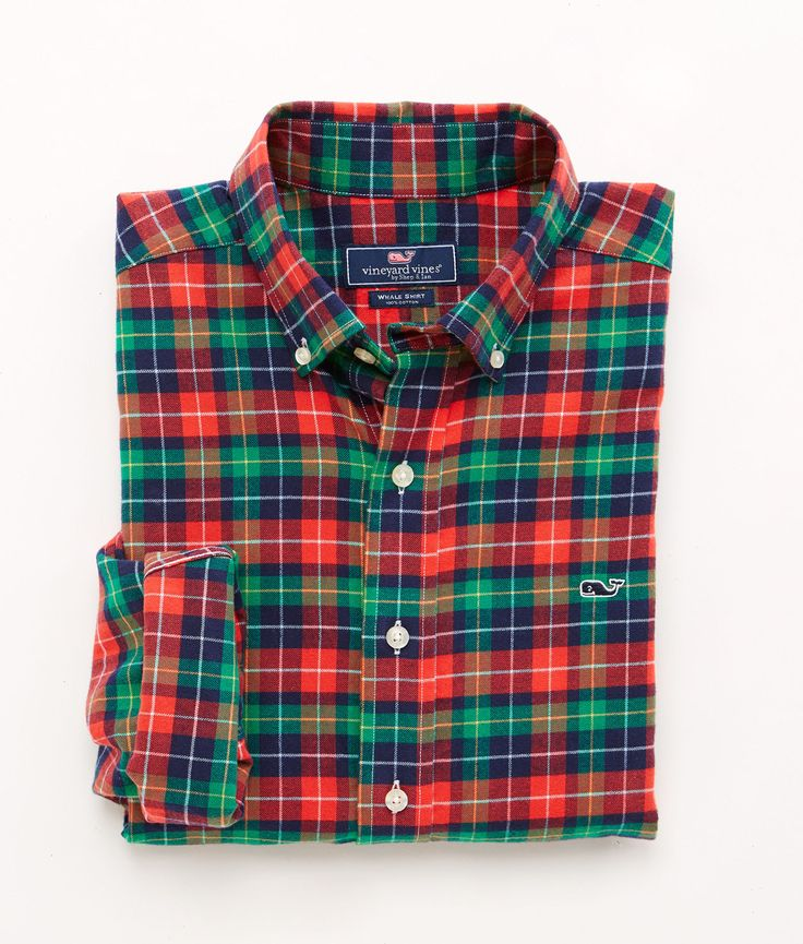 Shop Ridgebook Plaid Classic-Fit Whale Shirt at vineyard vines