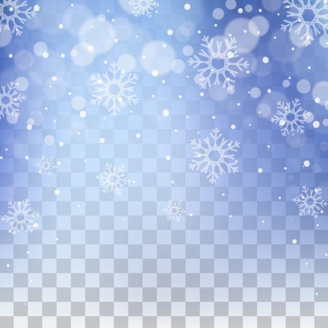 Beautiful Winter Snowfall With Circular Bokeh Background Geometry