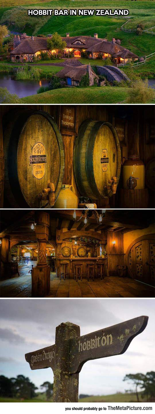 Awesome Hobbit Bar In New Zealand.  I Know where I'm going during my vacation.
