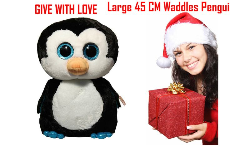 Ty Beanie Boos Large 45 CM Waddles Penguin FREE SHIPPING 2 LEFT - Love Shopping 188