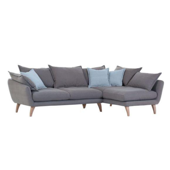 WOHNLANDSCHAFT in Grau, Hellblau Textil - Polstermöbel - Polstermöbel, Sofas & Sessel - Wohn- & Esszimmer - Produkte