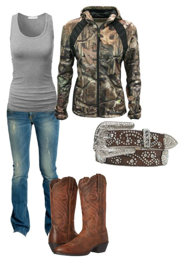 """Hanging out with some friends"" by southernprincess19 ❤ liked on Polyvore featuring GUESS, Ariat, Walls and Nocona"