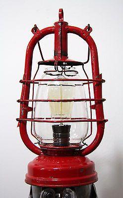 Tripod Steh Stativ Petroleum Lampe Industrie Sturmlaterne Vintage RHEWUM ST2