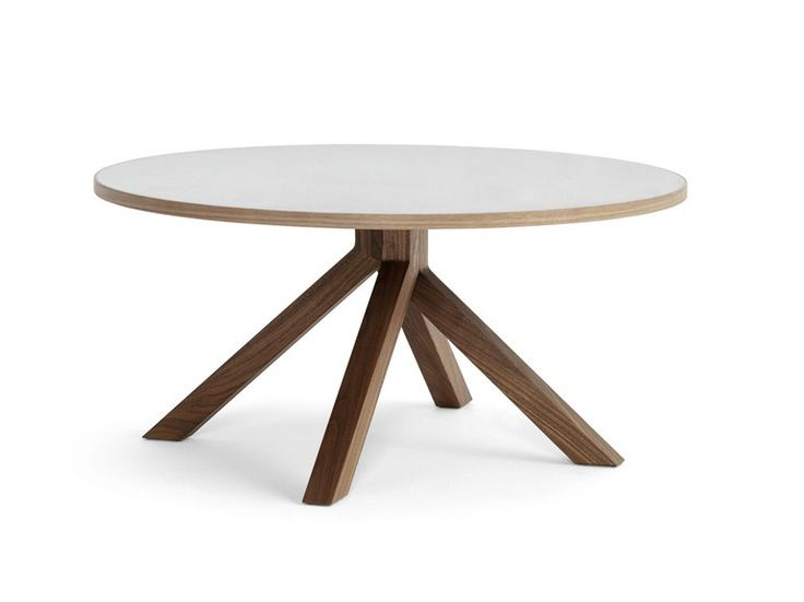 Low round wooden coffee table grapevine by billiani for Round table 52 nordenham