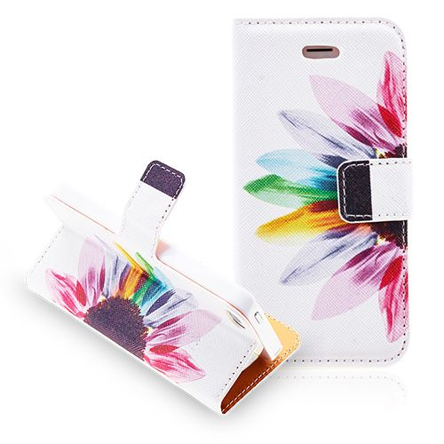 Colorful Sunflower Leather Protective Wallet Case for iPhone 5 5S #colorful #sunflower #wallet #iphone5 #case #leather #covers #cellz