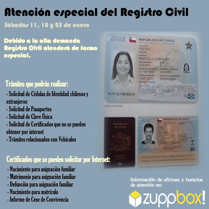 Atención del Registro Civil durante los sábados de enero.