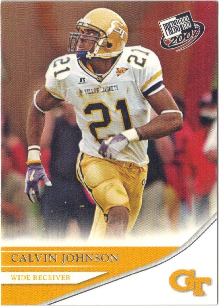 2007 Press Pass #18 Detroit Lions Calvin Johnson