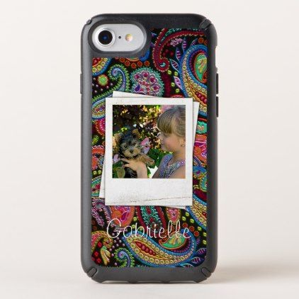 Fun Custom Paisley Floral Pattern Your Name Photos Speck iPhone Case - retro gifts style cyo diy special idea