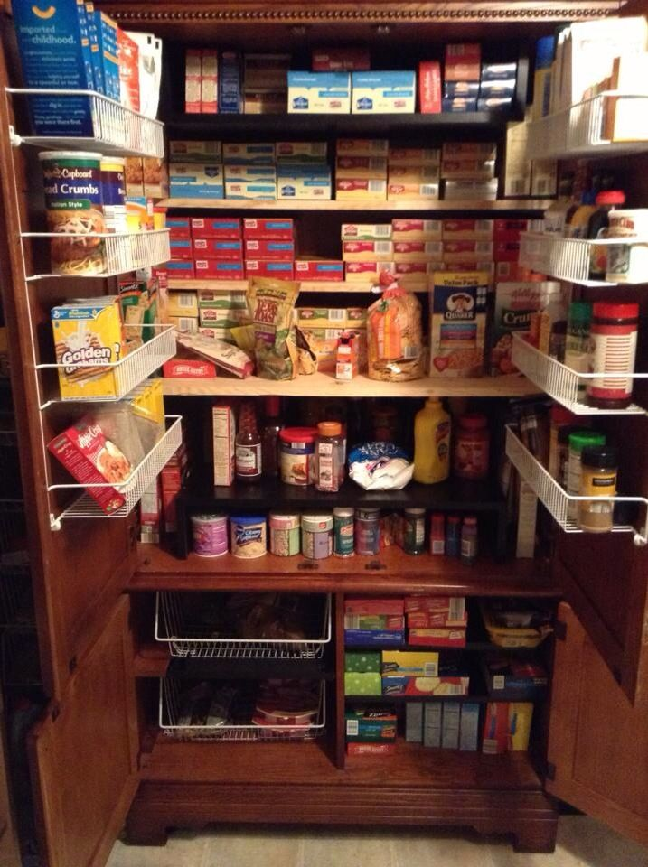 Pantry from a  tall entertainment unit, via Pinterest