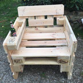 Garten Lounge Sessel Aus Europaletten Sommer   Sonne   Gartenzeit !
