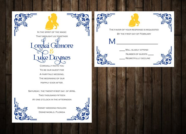 17 best ideas about disney wedding invitations on pinterest, Wedding invitations