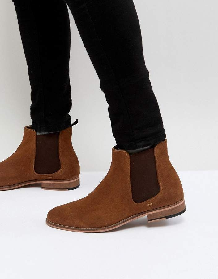 e1aa6fc39b3 Walk London Harrington Suede Chelsea Boots in Tan | The World Of ...