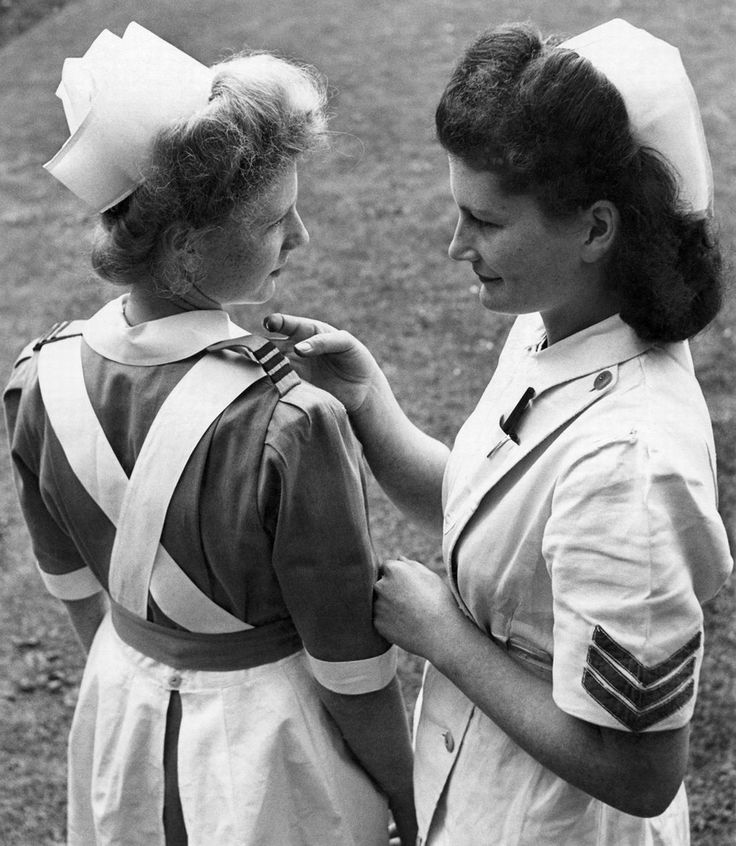 Nurses at Dulwich Hospital are given a preview of the uniforms they will wear in the future