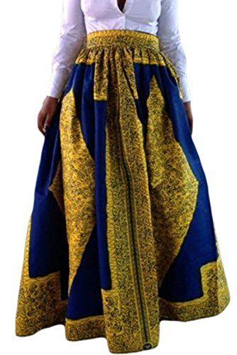 Dearlovers Beach Skirt Casual Traditional African Print
