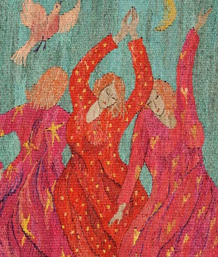 Dancing for JoY. A Tapestry Weaving