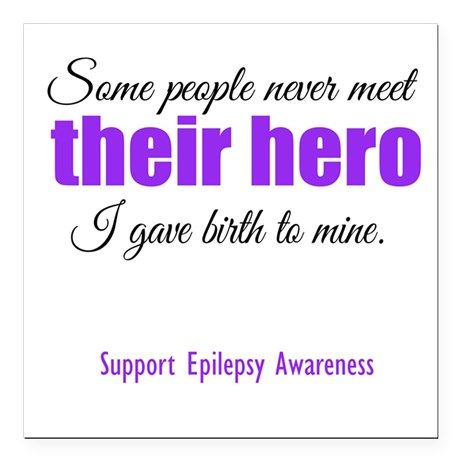 "Hero Epilepsy Square Car Magnet 3"" x 3"" on CafePress.com"