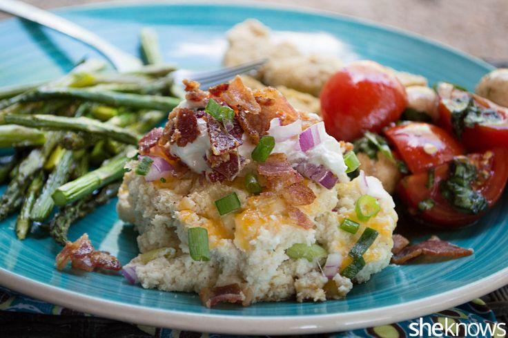 Gluten-free, cheesy cauliflower casserole