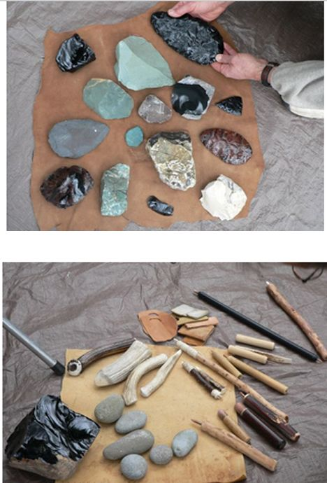 Types of rock that can be knapped or flaked to create tools.
