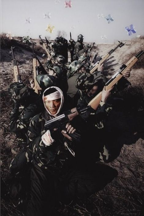 Chinese Photographer Wang Qingsong, ANOTHER BATTLE NO. 1 on ArtStack #wang-qingsong-wang-qing-song #art