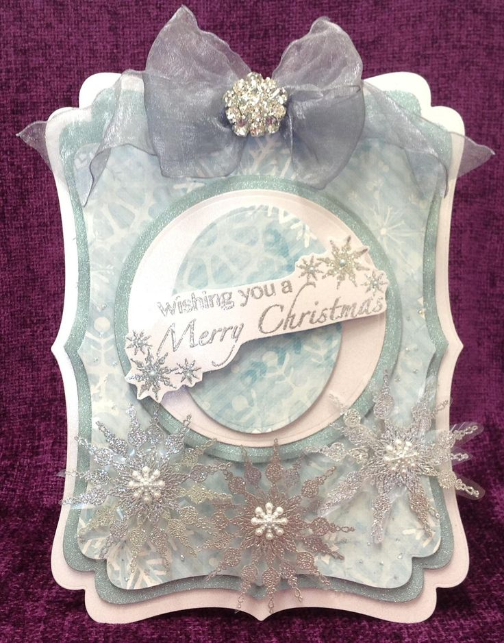 Made by Chloe Using Stamps by Chloe Small Beaded Snowflake Stamps by Chloe Wishing you a Merry Christmas