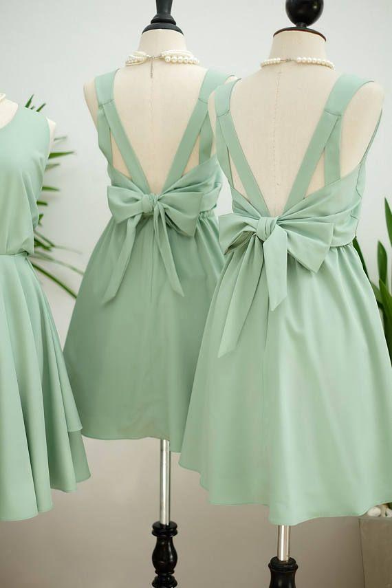 Vert sauge robe sage parti robe de bal verte robe vert robe de