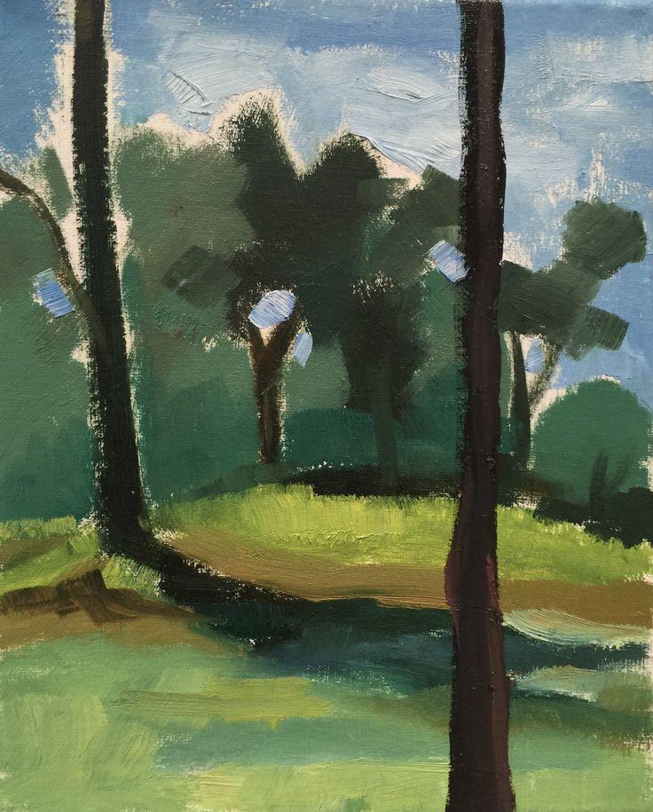 Vicki Bosworth: Callen Park III Oil on canvas 10 x 8 inch