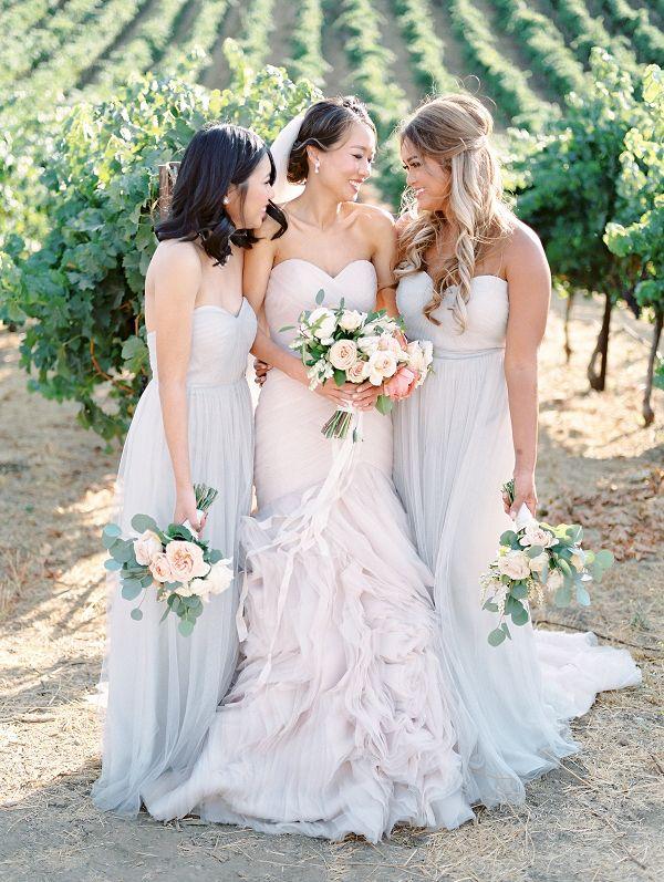 Bridesmaids in Pale Blue on Elizabeth Anne Designs