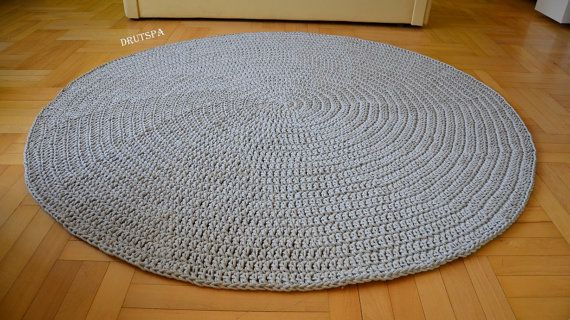 PROMOTION Round area rug many colors Crochet by craftladiesshop