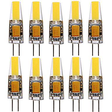 YWXLIGHT® 10 pcs 4W 80-100 lm G4 LED Spotlight T 1 leds COB Decorative Warm White Cold White Natural White AC/DC 12-24 - USD $ 16.99