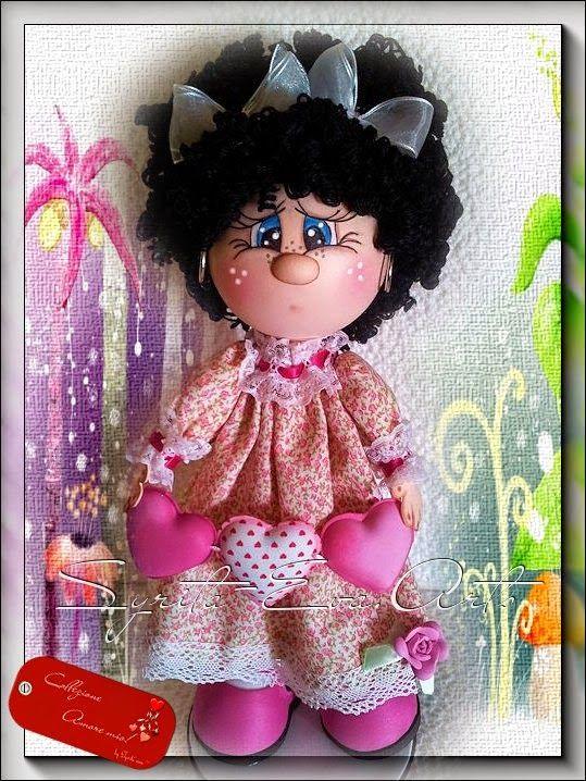 """Hoy os presento a Lidia, es la cuarta y última muñeca de la colección """"Amore mio"""" espero sea de vuestro agrado. Un besote muakkkkkk ..."""