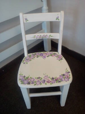 Handpainted Kids Chair