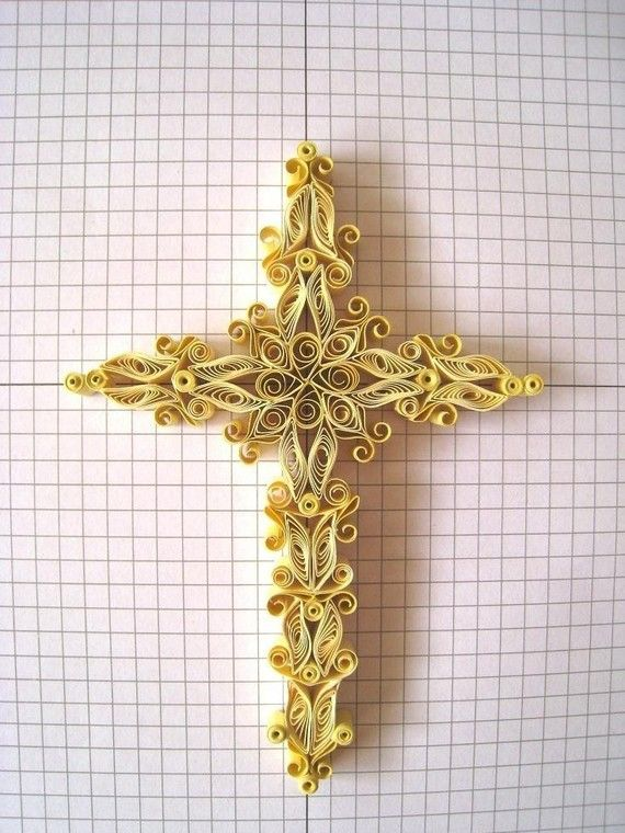 The Sophia Cross - Detailed Quilling Tutorial in PDF. $5.00, via Etsy.