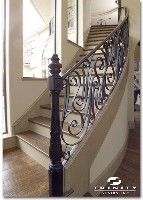 fun wrought iron staircase. This is made entirely of wrought iron  no wood A little too contemporary but on every other rise you could add as medallion decorative piece 17 best staircase images Pinterest Staircases Stairways and