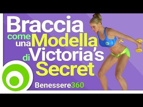 Braccia Come una Modella di Victoria's Secret - Esercizi per Braccia Toniche e Snelle in 8 Minuti - YouTube
