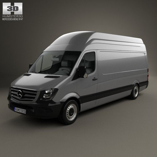 Mercedes Benz Sprinter Panel Van LWB SHR 2013 By The Model Was Created On Real Car Base ItaEURTMs Accurately In Units Of Measurement