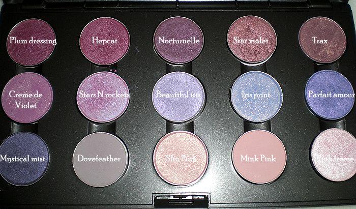 mac purple eyeshadow collection palette older shades