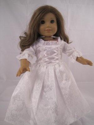 Wedding Dress for 18 Inch Dolls like American Girl Dolls  Price:$21.90
