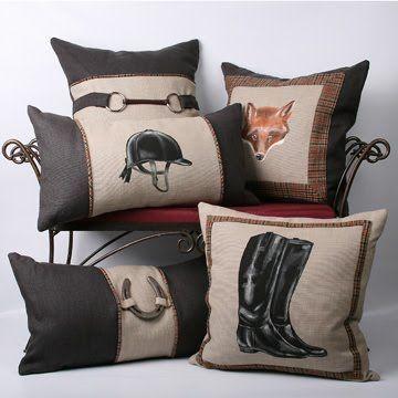 Equestrian theme throw pillows                              …