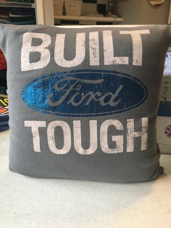 This is a Ford T-shirt that I made into a 14 x 14 pillow. This shirt has a little bling for the ladies out there that are into Fords!! Price includes pillow form.