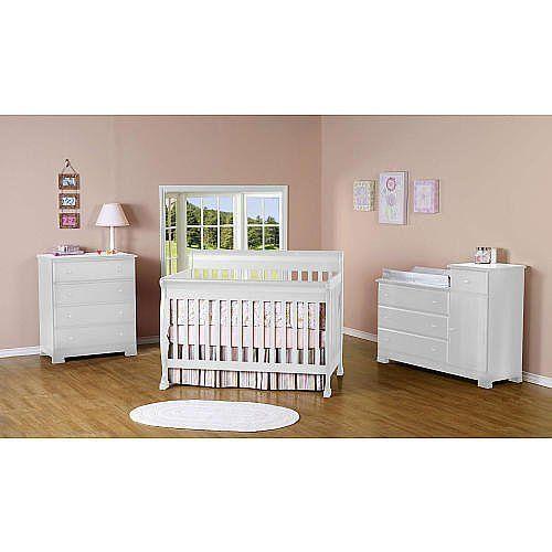kalani 4in1 convertible crib with toddler rail white