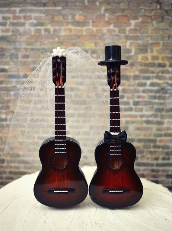 Guitar wedding cake toppermusicianwedding cake by MorganTheCreator, $46.00