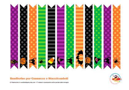 Mini bandierine per Halloween - Stampa, disegna e crea con Filastrocche.it