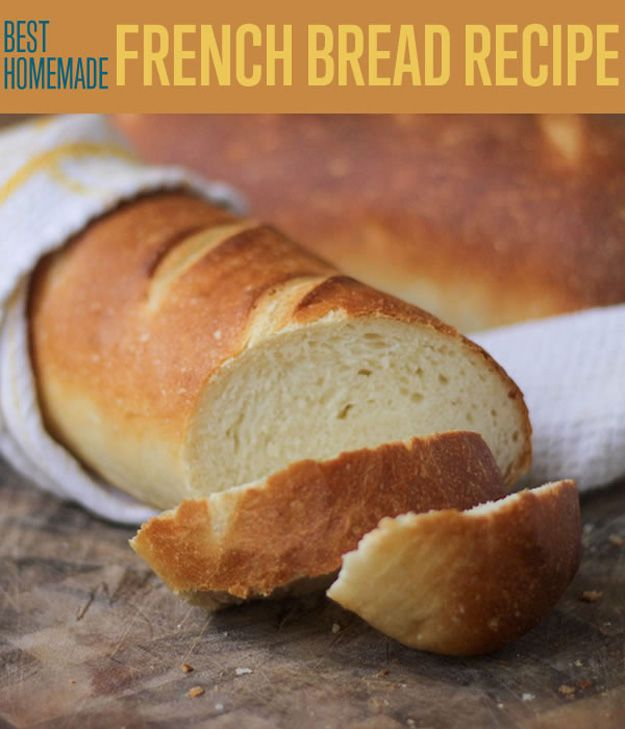 Best Easy Homemade French Bread Recipe   www.diyready.com/best-homemade-french-bread-recipe/