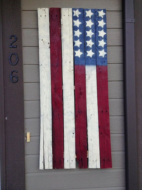 17 best images about american flag on pinterest wooden wall decor wood pallets and july 4th 1776 - American flag pallet art ...