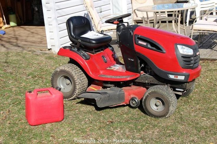 Craftsman Riding Mower sold on MaxSold for $1010